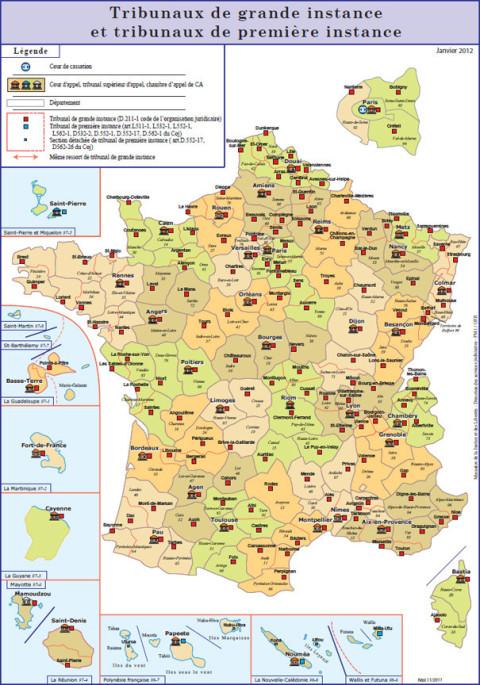 Pour Connaître La Compétence Territoriale Du0027une Cour Du0027appel, Il Convient  Donc De Toujours Consulter La Carte Des Ressorts De Cour Du0027appel.